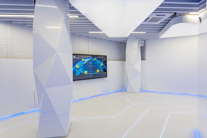 акриловый камень в офисе, выставочном центре Белтелеком (5)